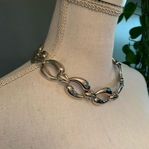 Vintage Metal Link Choker Necklace